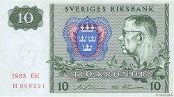 10 Kronor SUÈDE  1983 P.52e TTB