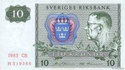 10 Kronor SUÈDE  1983 P.52e SUP