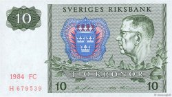 10 Kronor SUÈDE  1984 P.52e pr.NEUF
