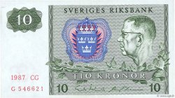 10 Kronor SUÈDE  1987 P.52e TTB+