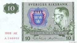 10 Kronor SUÈDE  1988 P.52e SUP