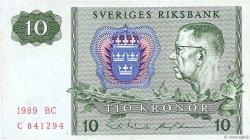 10 Kronor SUÈDE  1989 P.52e TTB