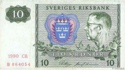 10 Kronor SUÈDE  1990 P.52e TB+