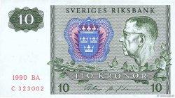 10 Kronor SUÈDE  1990 P.52e TTB+