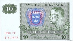 10 Kronor SUÈDE  1990 P.52e NEUF