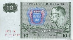 10 Kronor SUÈDE  1971 P.52cr1 SUP