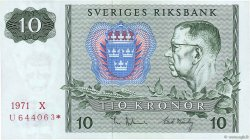 10 Kronor SUÈDE  1971 P.52cr1 SPL+