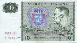 10 Kronor SUÈDE  1975 P.52cr1 SUP