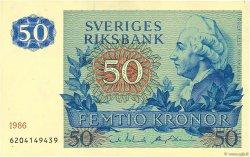 50 Kronor SUÈDE  1986 P.53d SPL