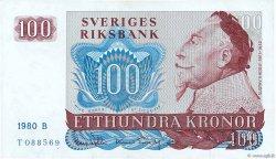 100 Kronor SUÈDE  1980 P.54c SUP