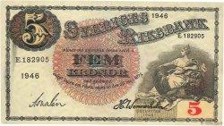 5 Kronor SUÈDE  1946 P.33ac NEUF