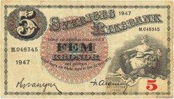 5 Kronor SUÈDE  1947 P.33ad TB+