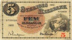 5 Kronor SUÈDE  1951 P.33ah TB