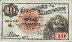 10 Kronor SUÈDE  1934 P.34q TTB