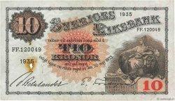 10 Kronor SUÈDE  1935 P.34r TTB+
