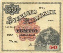 50 Kronor SUÈDE  1950 P.35ae TTB