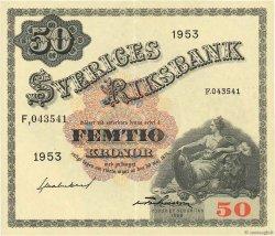 50 Kronor SUÈDE  1953 P.35ae SUP