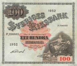 100 Kronor SUÈDE  1952 P.36ah TTB+