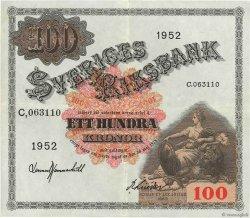 100 Kronor SUÈDE  1952 P.36ah SUP