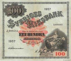 100 Kronor SUÈDE  1957 P.45c TTB