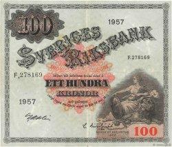 100 Kronor SUÈDE  1957 P.45c TTB+