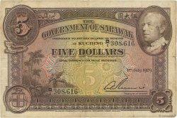 5 Dollars SARAWAK  1929 P.15 TB