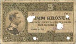 5 Kronur ISLANDE  1912 P.07b pr.TB