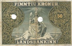 50 Kronur ISLANDE  1912 P.09b pr.TB