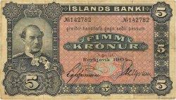 5 Kronur ISLANDE  1904 P.10 TB