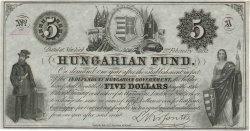 5 Dollars HONGRIE  1852 PS.137 SPL
