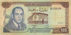 100 Dirhams MAROC  1985 P.59b TB