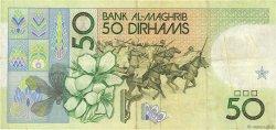 50 Dirhams MAROC  1987 P.61a TTB