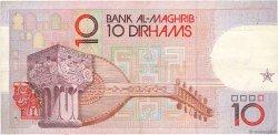 10 Dirhams MAROC  1987 P.63b TTB+