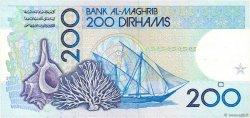200 Dirhams MAROC  1987 P.66c SUP