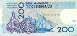 200 Dirhams MAROC  1987 P.66d TTB