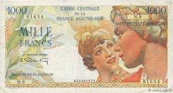 1000 Francs Union Française SAINT PIERRE ET MIQUELON  1946 P.28 TB+