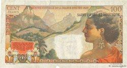 2 NF sur 100 Francs La Bourdonnais SAINT PIERRE ET MIQUELON  1960 P.32 TB