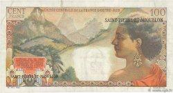 2 NF sur 100 F La Bourdonnais SAINT PIERRE ET MIQUELON  1960 P.32 pr.TTB