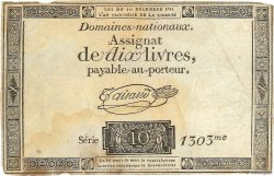 10 Livres FRANCE  1791 Ass.21a TB