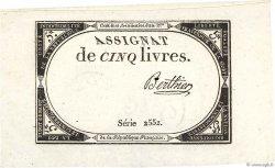 5 Livres FRANCE  1793 Ass.46a SUP+