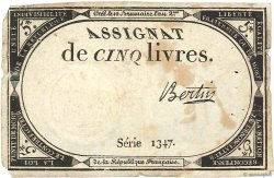 5 Livres FRANCE  1793 Ass.46a TTB