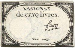 5 Livres FRANCE  1793 Ass.46a SUP