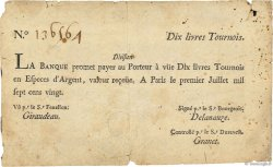 10 Livres Tournois FRANCE  1720 Dor.22 TB