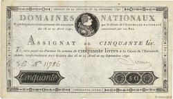 50 Livres FRANCE  1790 Ass.04a TTB