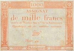 1000 Francs FRANCE  1795 Ass.50a TB+