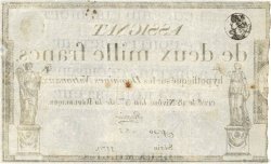 2000 Francs FRANCE  1795 Ass.51a TB à TTB