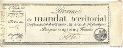 25 Francs avec série FRANCE  1796 Ass.59b SUP à SPL
