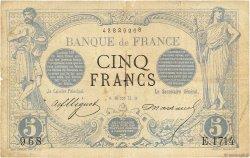 5 Francs NOIR FRANCE  1873 F.01.14 pr.TB