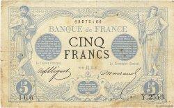 5 Francs NOIR FRANCE  1873 F.01.18 pr.TB