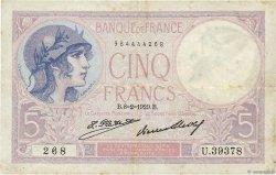 5 Francs VIOLET FRANCE  1929 F.03.13 pr.TTB